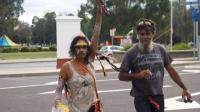 Aboriginal protesters in Canberra - 3