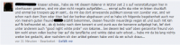 Facebook-Posting zum Becherwurf