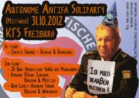 Autonome Antifa Soliparty am 31.10.2012 in der KTS Freiburg
