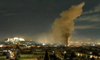 Athens is burning after riots on February 12th, 2012
