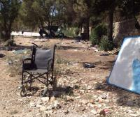 Eviction of the No Border Camp on Lesvos