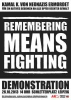 Plakat: Remembering means fighting