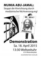 Berlin - FREE MUMIA Demo am 18. April 2015
