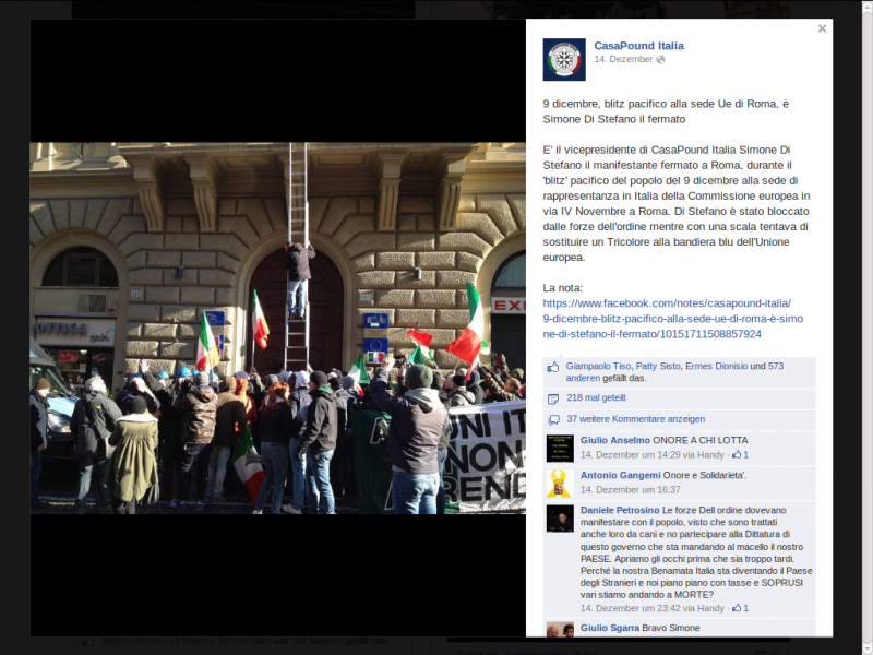 Screenshot - CasaPound Italia, 14.12.2013