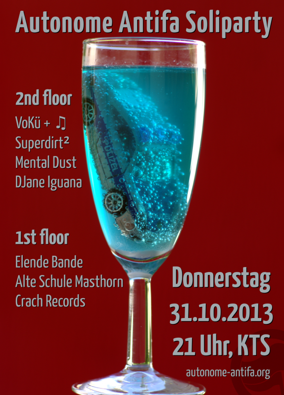 Autonome Antifa Soliparty 31.10.2013 in der KTS Freiburg