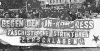Antifaschistische Demonstration in Leipzig gegen den JN-Bundeskongress 1996.