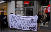 Protest gegen adecco in Halle