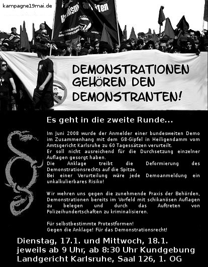 Demonstrationen gehören den Demonstranten!