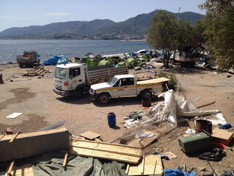 Eviction of the No Border Camp on Lesvos 2