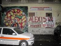 Solidarity banner in remembrance of Alexis - 2