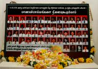 The portraits of the school girls and staff killed in the SLAF bombing