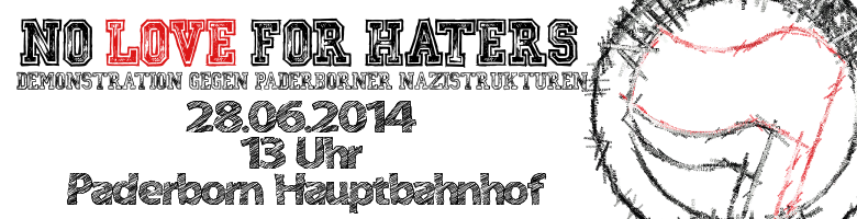 No love for haters Demonstration Logo