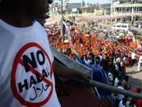 Anti-Halal Demo durch singhalesische-budhistische Nazis in Sri Lanka