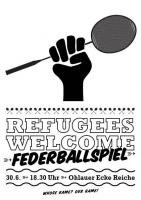 Refugees Welcome - Federballspiel