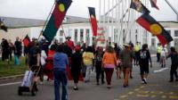 Aboriginal protesters in Canberra - 4