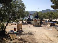 Eviction of the No Border Camp on Lesvos 4